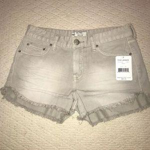 NWT free people grey jean shorts